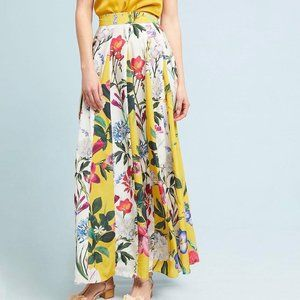LAST $ DROP Anthropologie Pleated Maxi Skirt